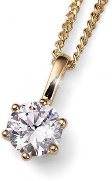 Oliver Weber Pozlacený stříbrný náhrdelník s krystalem Brilliance 61125G 001 (řetízek, přívěsek)
