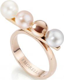 Morellato Ocelový prsten s perlami Lunae Rose SADX05 58 mm