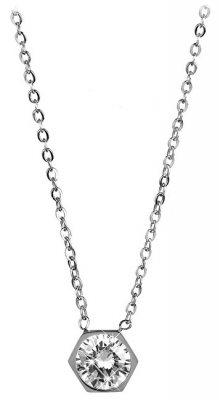 Troli Ocelový náhrdelník s hexagonem