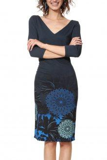 Desigual modré šaty Vest Florencia s mandalami - M