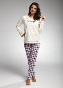 Cornette Shine 655/163 Dámské pyžamo S krémovo-růžová