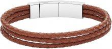 Fossil Pánský kožený náramek JF02683040