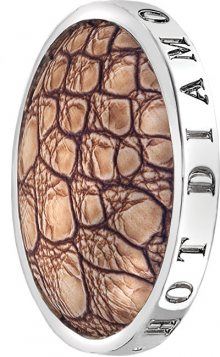 Hot Diamonds Přívěsek Emozioni Faux Crocodile Light Brown EC082-092 33 mm