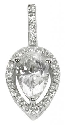 Silver Cat Stříbrný přívěsek s krystaly SC071
