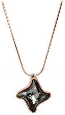 Troli Bronzový náhrdelník Twister Silver Night