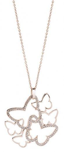 Brosway Ocelový náhrdelník s motýly Flow BOW02