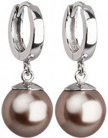 Evolution Group Stříbrné náušnice s perlou 31151.3 bronze