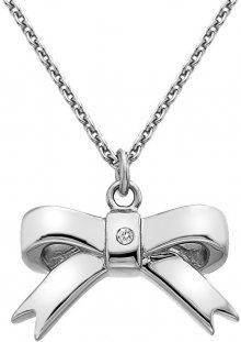 Hot Diamonds Stříbrný přívěsek Mašlička s diamantem Ribbon DP630 (řetízek, přívěsek)