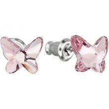 Troli Motýlkové náušnice Butterfly Light Rose