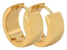 Troli Široké kroužkové náušnice z pozlacené oceli
