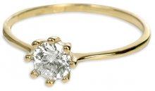 Brilio Zlatý zásnubní prsten s krystalem 226 001 00934 - 1,30 g 55 mm