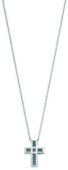 Morellato Ocelový náhrdelník s krystaly Křížek Rocce SALS06