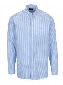 Bílo-modrá pruhovaná classic fit košile Hackett London