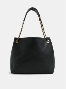 Černá kabelka s detaily ve zlaté barvě Miss Selfridge