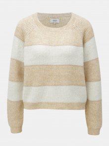 Bílo-hnědý třpytivý svetr ONLY Malone