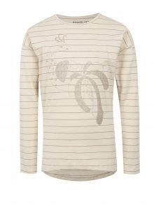 Krémové holčičí pruhované tričko s potiskem small rags Freya