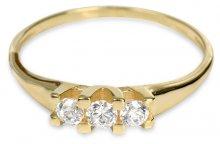 Brilio Zlatý dámský prsten s krystaly 229 001 00707 - 1,35 g 57 mm