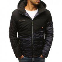 Pánská zimní bunda s kapucí černá