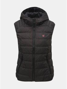 Černá dámská prošívaná voděodpudivá vesta s kapucí LOAP Irminic