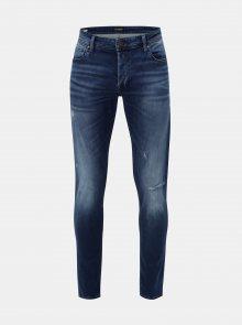 Modré slim fit džíny s vyšisovaným efektem Jack & Jones Original