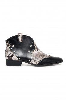 Desigual černé kotníkové boty Cowgirl B&W - 36