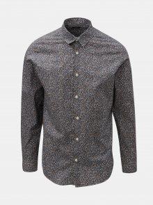 Bílo-modrá vzorovaná slim fit košile Selected Homme Slimflow