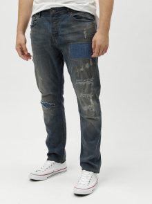 Modré džíny s potrhaným efektem ONLY & SONS