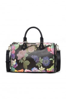 Desigual černá kabelka s květinovými motivy Iris Bowling