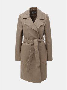 Béžový kabát na zavazování Noisy May Dido