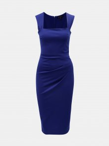 Modré pouzdrové šaty s řasením na boku Scarlett B