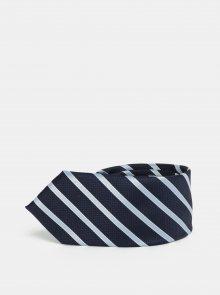 Tmavě modrá slim kravata s pruhy Selected Homme Vilhelm
