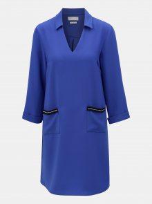 Modré šaty s kapsami a 3/4 rukávem Rich & Royal