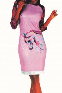 Culito from Spain barevné šaty Unicornio - S