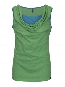 Zelené tílko s řasením ve výstřihu Tranquillo Rochea