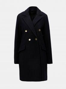 Tmavě modrý dlouhý kabát Dorothy Perkins