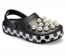 Crocs puntíkované dámské pantofle Crocband Timeless Clash Pearls Clog - W7