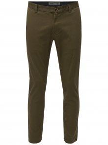 Khaki slim fit chino kalhoty Burton Menswear London