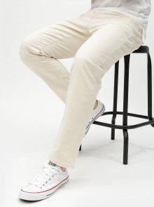 Krémové tapered fit džíny Selected Homme Toby