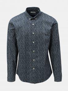Bílo-modrá vzorovaná košile Lindberg