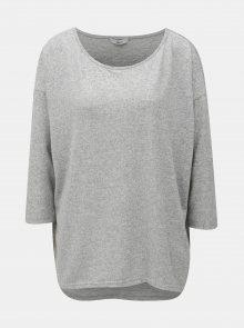 Světle šedý volný žíhaný svetr ONLY Elcos
