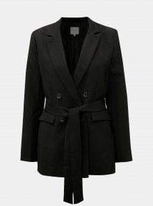 Černé sako s textilním páskem VILA Vitora