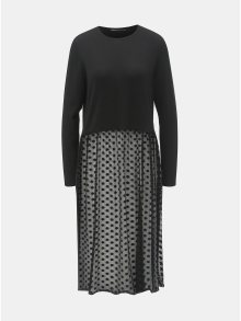 Černý top s dlouhým rukávem a průsvitnou sukní ONLY