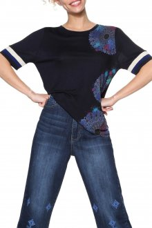Desigual tmavě modré tričko Onega - L