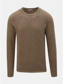 Béžový svetr s kulatým výstřihem  Selected Homme New Dean