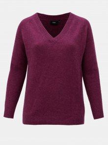 Fialový svetr s příměsí vlny Zizzi Camilla