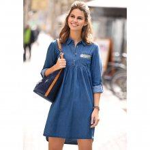 Venca Krátké džínové šaty středně modrá S