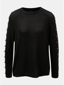 Černý lehký svetr s korálky VERO MODA