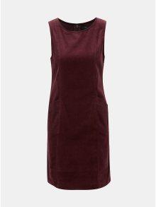 Vínové manšestrové šaty bez rukávů M&Co