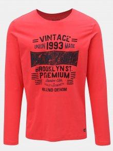 Červené regular tričko s dlouhým rukávem Blend