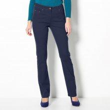 Blancheporte Strečové rovné kalhoty námořnická modrá 36